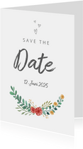 Save-the-Date-Karte Blumenornamente