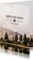 Save-the-Date-Karte Hochzeit Landschaftsfoto