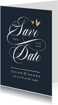 Save-the-Date-Karte Hochzeit Schreibschrift