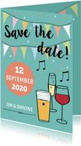 Save the date met drank en namen