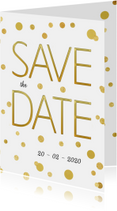 Save the Date stip goud - SG