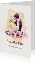 Save the date trouwkaart watercolour