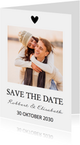 Save the Date zwart wit eigen foto