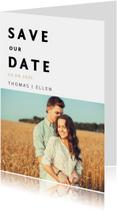 Save the datekaart met een eigen foto