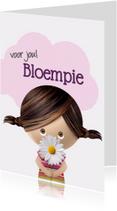 Schattig meisje met bloem