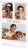 Schlichte Muttertagskarte mit Fotos