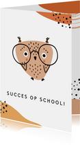 School kaart Uil, aanpasbare tekst