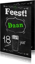 Schoolbord feest met bier-ByF
