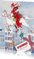 Sint en Piet Huisjes Paard Illustratie