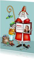 Sint en Piet met grote boek