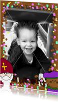 Sint Piet en snoepgoed fotokaart