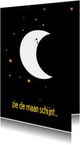 Sinteklaaskaart zie de maan schijnt