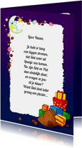 Sinterklaas gedichtpapier pakjesavond