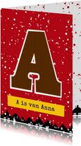 Sinterklaaskaart choco A