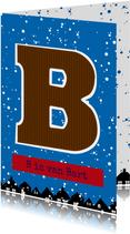 Sinterklaaskaart choco B