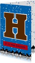 Sinterklaaskaart choco H