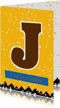 Sinterklaaskaart choco J