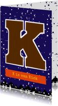 Sinterklaaskaart choco K