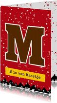 Sinterklaaskaart choco M