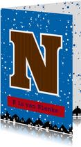 Sinterklaaskaart choco N