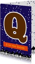 Sinterklaaskaart choco Q
