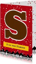 Sinterklaaskaart choco S
