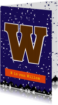 Sinterklaaskaart choco W