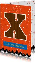 Sinterklaaskaart choco X
