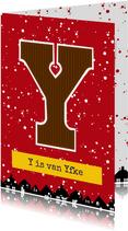 Sinterklaaskaart choco Y
