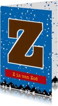 Sinterklaaskaart choco Z