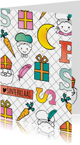 Sinterklaaskaart happy