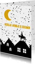 Sinterklaaskaart heerlijk avondje
