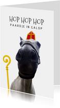 Sinterklaaskaart het paard van Sinterklaas