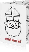 Sinterklaaskaart liefs van Sint