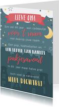 Sinterklaaskaart met gedichtje: We missen jou