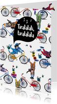 Sinterklaaskaart voor je gedicht met acrobatische pietjes