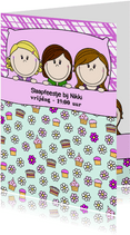 Slaapfeestje meisjes in groot bed