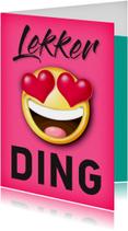 Smiley hartjes lekker ding Valentijnskaart