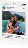 Social Media fotocollage vakantiegroet kaart