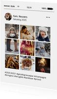 Social media nieuwjaarskaart tijdlijn kaart met 9 foto's