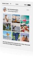Social Media tijdlijn fotocollage vakantiekaart