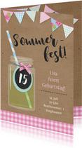 Sommerliche Einladung zum 15. Geburtstag