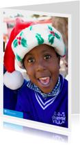 SOS Kinderdorpen Kerstkaart Kerstmuts