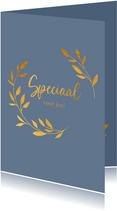 Speciaal voor jou - a touch of gold - zomaar kaart
