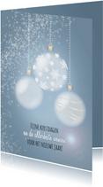 Sprankelende kerst blauw