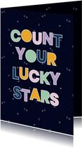 spreukenkaart Lucky stars