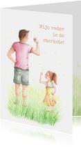 Sterke papa met dochter