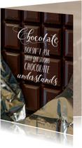 Sterkte chocolade stelt geen stomme vragen