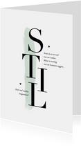 Sterkte condoleance kaart stil typografisch klassiek verf
