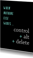 Sterkte control alt delete